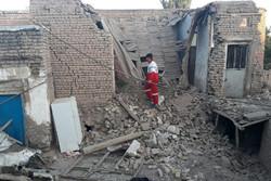 آسیب شدید به خانه های روستای ایوق سراب