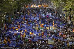 تظاهرات علیه ترور در بارسلونا