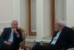 De Mistura ile Zarif Suriye'yi görüştü