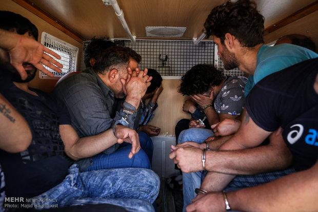 مجرمان - سارقان - دستگیری - متهمان