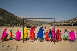 Iranian nomads' wedding ceremony, symphony of colors