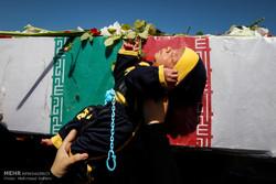 تشییع پیکر شهید گمنام در ستاد یگان صابرین سپاه
