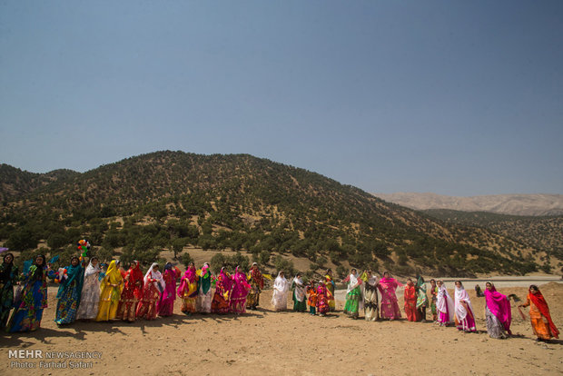 Iranian nomads' wedding ceremony, symphony of colors