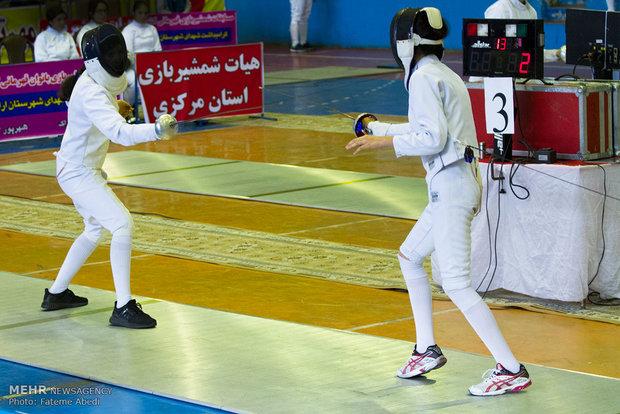 İranlı kadınlardan eskrim yarışması