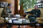 دیدار فرمانده ارتش وسپاه