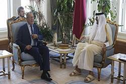 لاوروف و امیر قطر