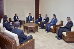 الرئيس السوري يستقبل حسين جابري أنصاري والوفد المرافق له