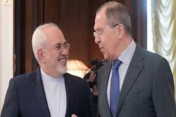ظريف ولافروف يبحثان قرارات مؤتمر الحوار الوطني السوري