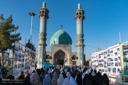 اقامه نماز عید قربان در آستان مقدس امامزاده محمد (ع) ـ حصارک