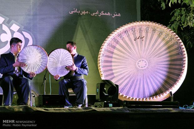 پایان جشنواره سراسری دف نوازی در سنندج