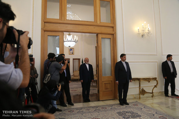 Iran's Zarif meets South African parliament speaker