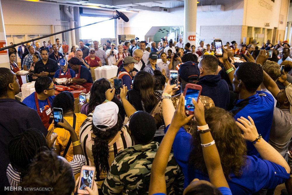 بازدید ترامپ از مناطق سیل زده