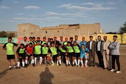 مسابقات فوتبال محلات بزرگسالان در چوبیندر افتتاح شد