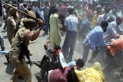 Keşmir Müslümanlarının gösterilerinin bastırıldığı anlar