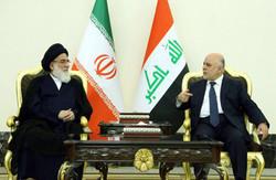 رئيس مجمع تشخيص مصلحة النظام يلتقي رئيس الوزراء العراقي