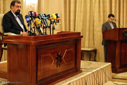 Press conference of Secretary of Expediency Council in Baghdad