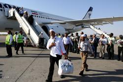 ورود نخستین مسافران حجاج اصفهانی به فرودگاه شهید بهشتی اصفهان