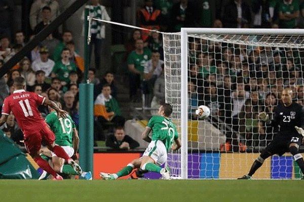 صربستان در خاک ایرلند ۳ امتیاز با ارزش گرفت