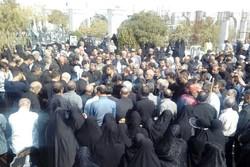 تشییع مادر شهید فهمیده آذربایجان بر دوش مردم تبریز