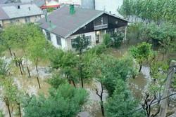 بارش باران در رامسر منجر به آبگرفتی منازل شد