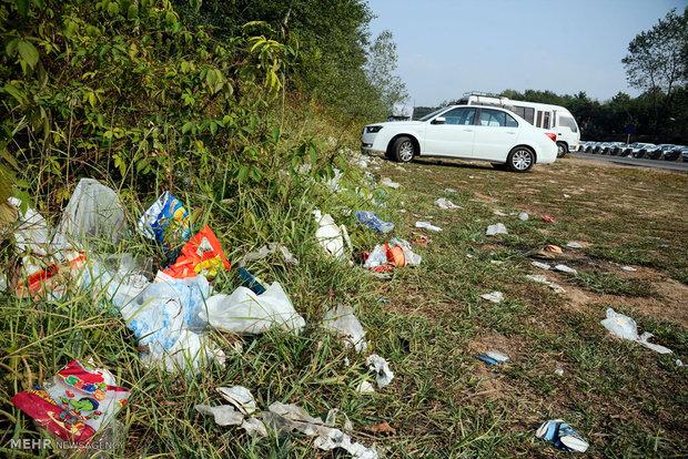 زباله های رها شده در سواحل و گردشگاه های گیلان