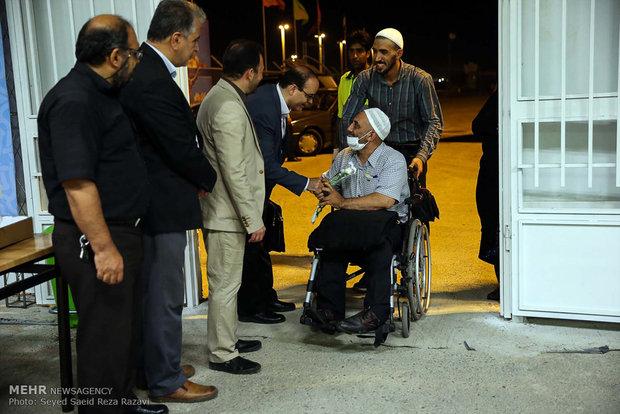 Iranian Hajj pilgrims returning home