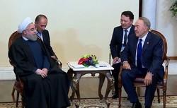 Rouhani, Nazarbayev urge expansion of Tehran-Astana ties