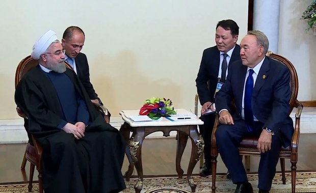 Rouhani, Nazarbayev urge expansion of Tehran-Astana ties