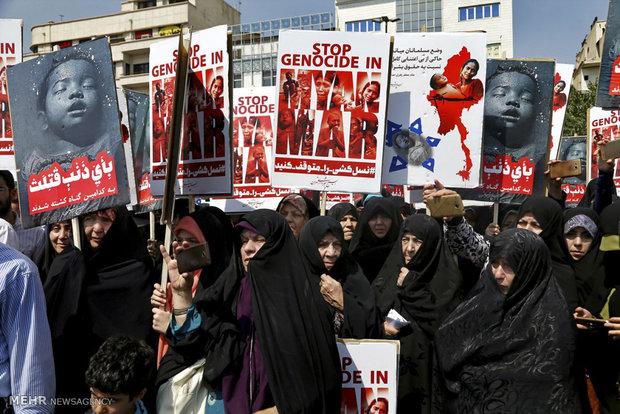 تظاهرات علیه کشتار مسلمانان روهینگیا