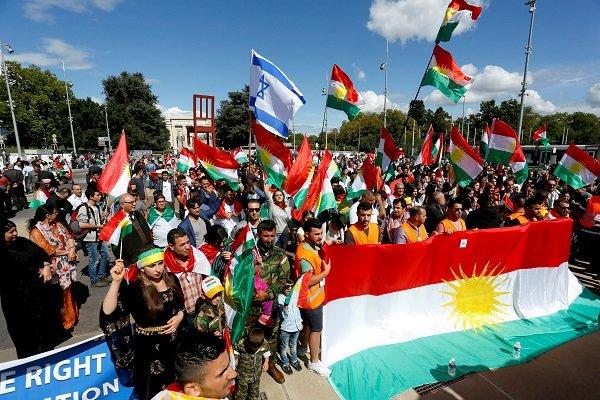 پرچم اسرائیل و اقلیم کردستان عراق