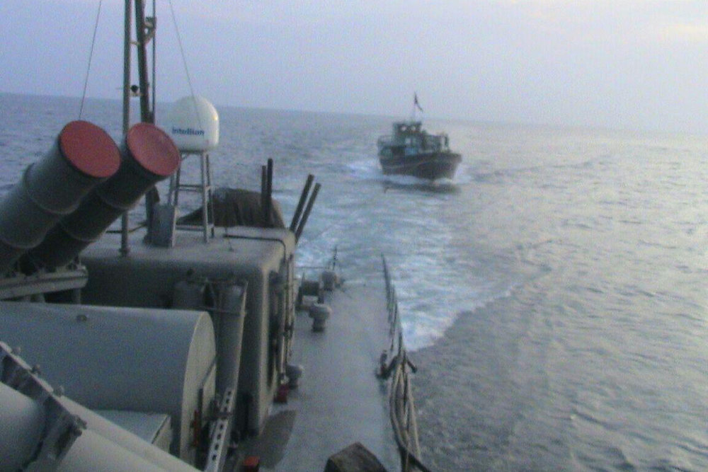 Iran's navy warns off United States warship in Sea of Oman