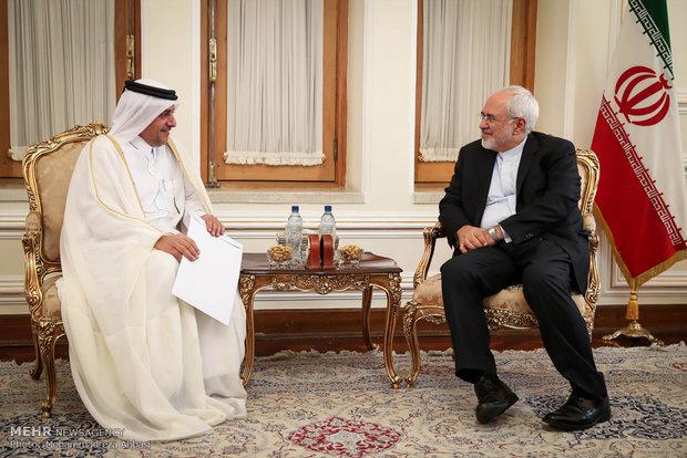 Katar'ın Tahran Büyükelçisi, Zarif'le görüştü