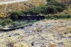 سقوط اتوبوس به دره در «جاجرود» ۱۱ کشته و ۲۶ مصدوم برجا گذاشت