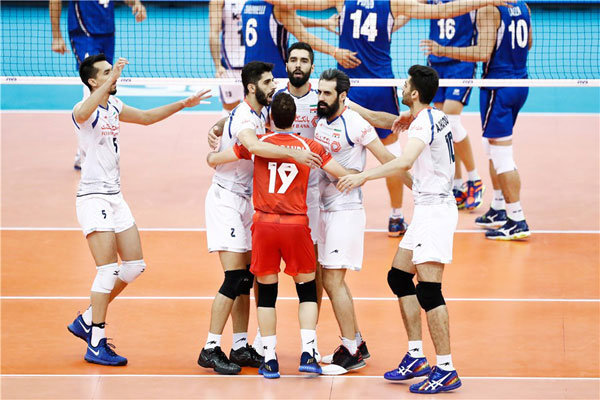 دیدار تیم ملی والیبال ایران و ایتالیا