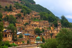 A view of Masouleh, a touristic village in northern Iran