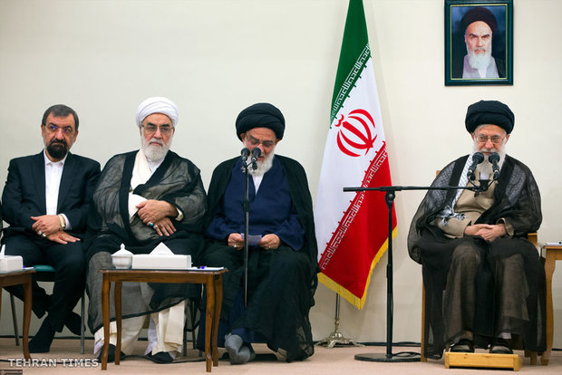 New chairman and members of Council of Expediency meet with Ayatollah Khamenei