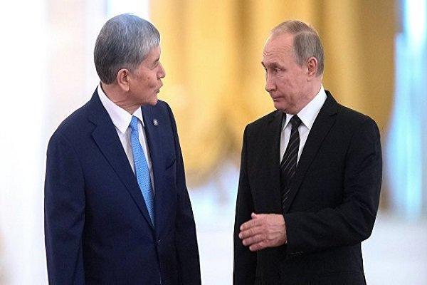پوتین با رئیس جمهور قرقیزستان دیدار میکند