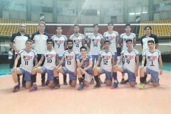 تیم والیبال جوانان ارس گلستان
