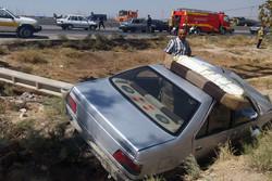 واژگونی پژو در آزادراه خرمآباد - پل زال ۵ مجروح بر جای گذاشت