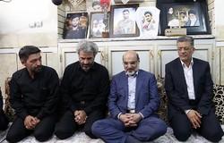 دیدار رئیس ملی با خانواده حججی