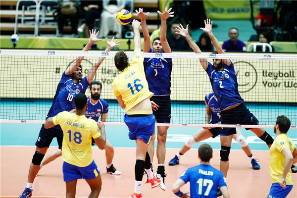 Iran defeat Japan at FIVB Grand Champions Cup