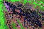 تصاویری از پایش ماهواره ای آتش سوزی در پارک ملی گلستان