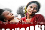 تجمع مسلمانان روسیه در اعتراض به اقدامات دولت میانمار