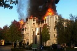 آتش سوزی یک مجتمع مسکونی در شهر «کنت» انگلیس
