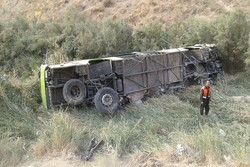 سقوط اتوبوس