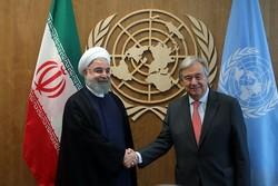 اقوام متحدہ کے سکریٹری جنرل کی شام میں ایران کے کردار کی تعریف