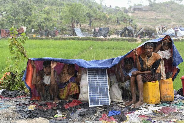 درمان سوختگی مسلمانان میانمار در بنگلادش