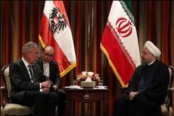 روحانی و رییس جمهوری اتریش