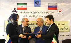 ایران و روسیه تفاهمنامه همکاری صنعتی و نفتی امضا کردند