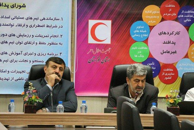 علی خدادادی مدیرکل جمعیت هلال احمر خوزستان